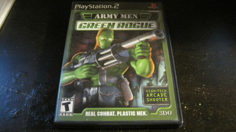 ARMY MEN GREEN ROGUE PLAYSTATION 2 PS2 VIDEO GAME COMPLETE