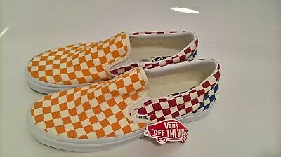 VANS Checkerboard Slip On Size 11 Multi Colour Cushion Brand New With Tag