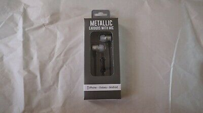 Metallic Earbuds with MIC For Iphone Galaxy Android , used for sale  Shipping to India