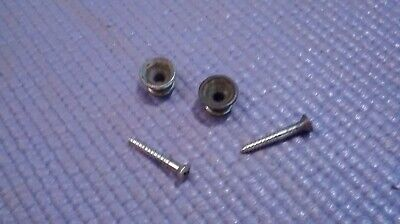 1960s-70s Fender strap buttons pair orig worn parts luthier project Stratocaster