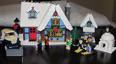 LEGO - 10229 WINTER VILLAGE COTTAGE W/ MANUALS & STICKERS CHRISTMAS HOLIDAY (Village Cottage)
