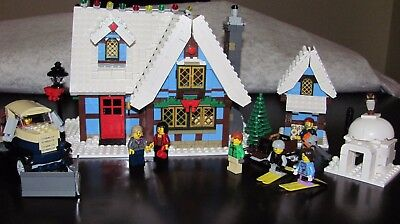 LEGO - 10229 WINTER VILLAGE COTTAGE W/ MANUALS & STICKERS CHRISTMAS HOLIDAY
