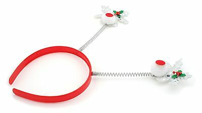 Zest Sparkly Rudolph Christmas Deely Bopper Alice Band Hair Accessories Silver](Deely Boppers)