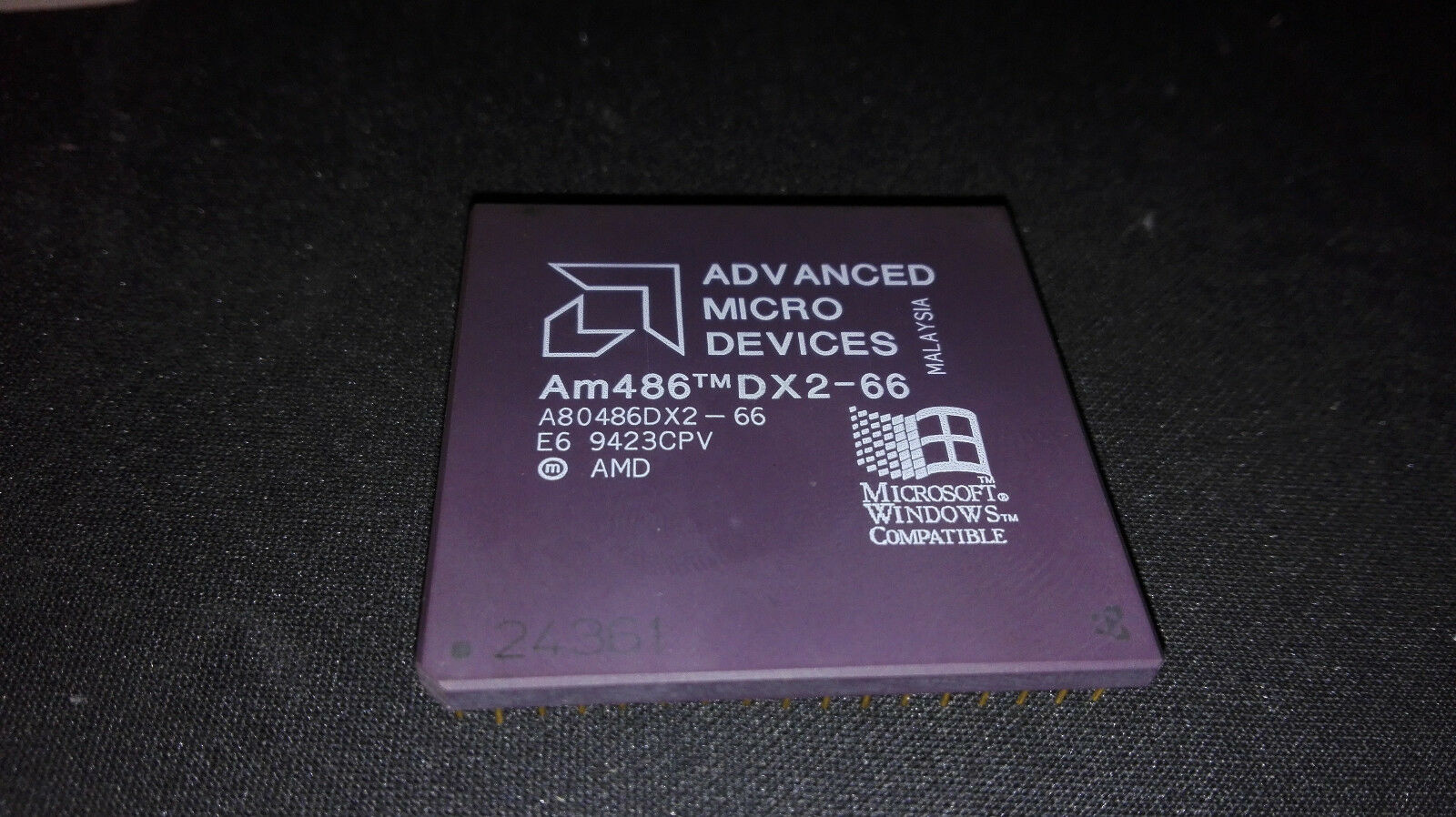 vintage cpu processor AMD Am486 486 DX2-66 66MHZ A80486DX2-66