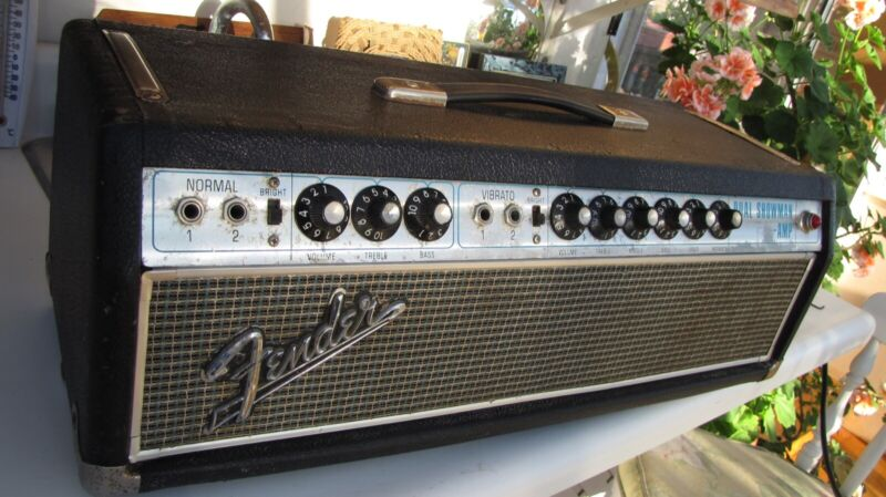 67 FENDER DUAL SHOWMAN AMP - BLACK LINE - MOSTLY UNTOUCHED - SOUNDS FULL + SOLID