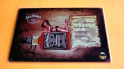 Jack Daniels Tennessee Whiskey METAL TIN Pin Up SIGN Home Wall Decor bar Plaque -