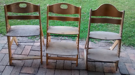 USED wooden high chairs