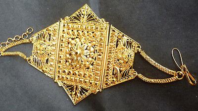 22k Gold Arm (22K Gold Plated Indian Bollywood Fashion Bajubandh Upper Arm Bracelet 1 pc set,a )
