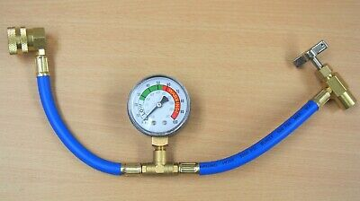 Self-Sealing R134a A/C Can Tap Gauge Hose Recharge Refrigerant AC Conditioning