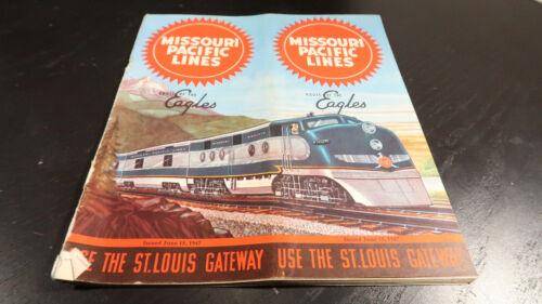 Missouri Pacific Lines Railway Railroad Public Train Schedule June 15 1947