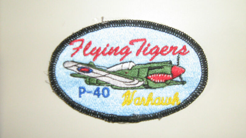 P-40 Warhawk USA Made Patches WWII Airplanes made by All Star Warbirds Custom