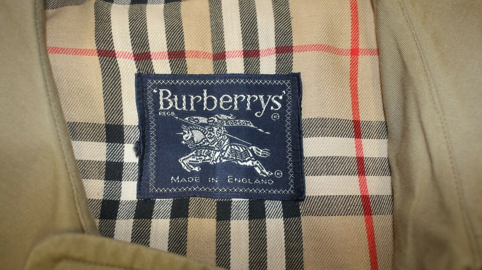 Trench imperméable burberry's vintage kaki clair taille 56 reg made in england