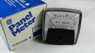 Vintage General Electric Ge Panel Meter - Ac Volts 0-30