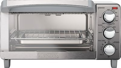 Atrocious & Decker - 4-Slice Toaster Oven - Stainless Steel