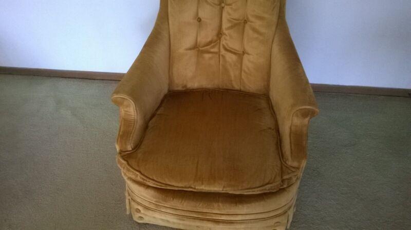 DeluxeTwo Chair set Velvet Upholstery [60462]
