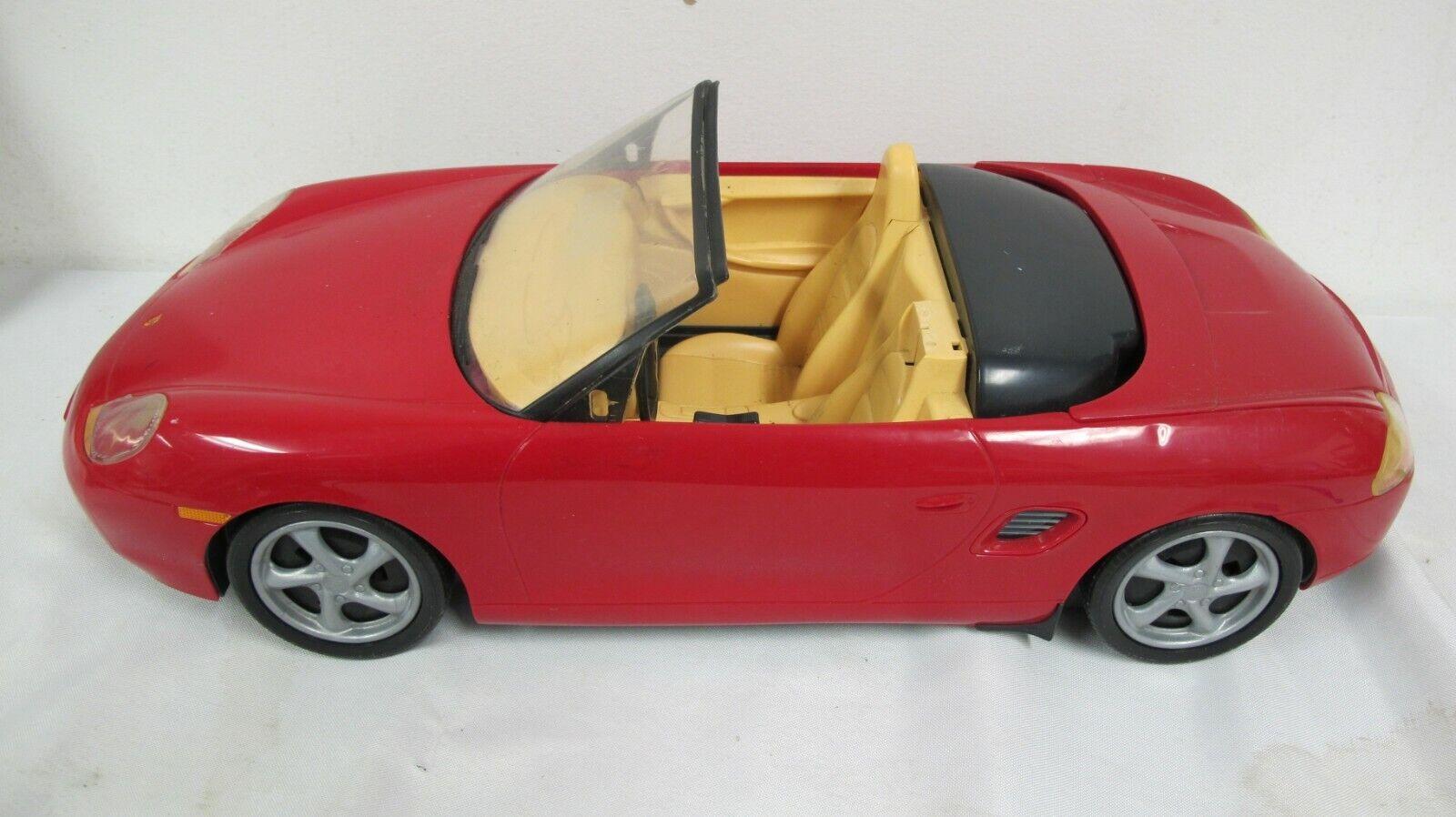 1998 BARBIE PORSCHE BOXSTER Red Sport Car MOTORIZED CONVERTIBLE MATTEL