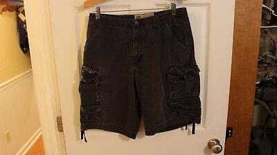 (Men's Vintage Lee Dungaree Multi-Pocket Cargo Shorts Size 32  #3)