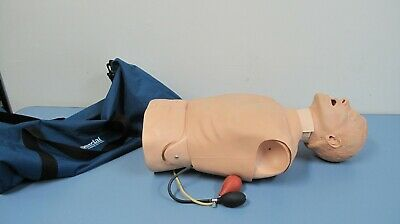 Laerdal 261-10001 Deluxe Difficult Airway Trainer Medical Training Manikin W Bag