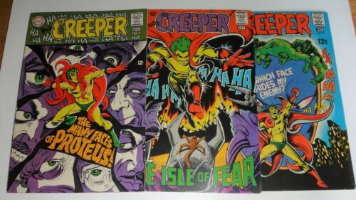 BEWARE THE CREEPER  #2,3,4 DITKO CLASSICS F/VF 1968