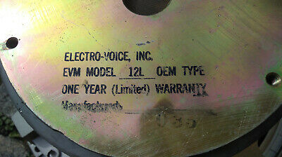 1x 1980' EVM 12L speaker Electro Voice 200W used in Mesa Boogie amps and combos for sale  Shipping to Nigeria