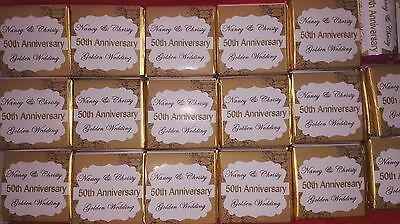 Personalised Anniversary Chocolates - Silver / Golden  Wedding Anniversary - Personalized Chocolates