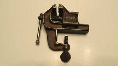 Antique very small bench vise #26 Jeweler Blacksmith gunsmith clamp vintage tool
