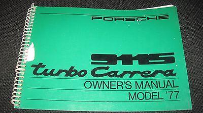 PORSCHE  1977 Turbo Carrera & 911-S OWNERS MANUAL  USA Version ORIGINAL GENUINE