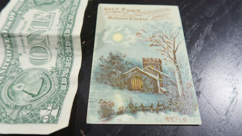 Victorian Trade Card Whittemore Bros Woman
