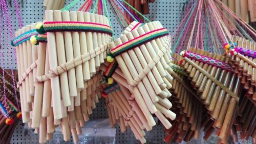 """Lot of 10 PAN FLUTE 13 PIPES beginners panpipes 6.6"""" Free shipping/We have store"""