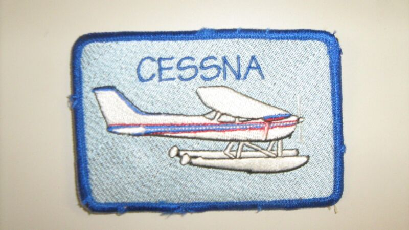 Cessna Aircraft on Floats Patch Made in the USA by All Star Warbirds Custom Embr