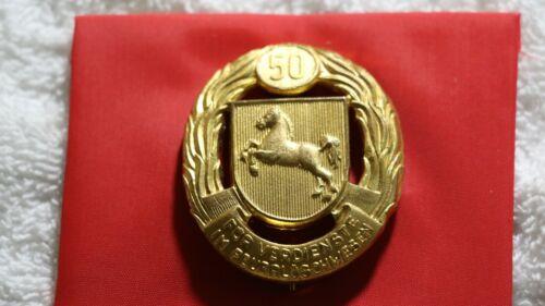 German 50 year service award.. Fireman, Hannover or Braunschweig