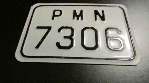 PMN - SAMOS ISLAND GREECE motorcycle license plate European rare Greek (d)