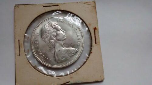Bahama Islands - 1966 Queen Elizabeth II Silver unc 5 Dollar Coin