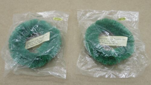 Set of 2 Vintage  Bottle Brush Wreaths Three inches with original packaging Taiw