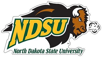 North Dakota State University NDSU Bison Color Cut Decal Choose Size cornhole