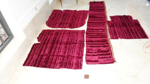 Make Offer  FRENCH ANTIQUE RICH VELVET FABRIC 4 Pc PROJECTS, CHAIR, DOLL DIFF Sz
