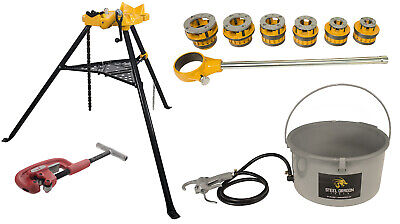 Steel Dragon Tools 12-r Threader Kit With 418 Oiler 460 Chain Vise 2a Cutter