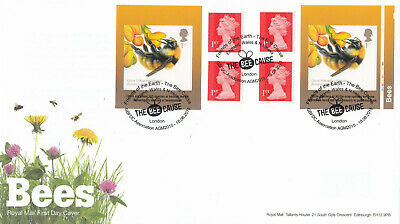 (43947) GB FDC Bees Booklet The Bee Cause Friends of Earth GBFDC London (The Bee Cause)