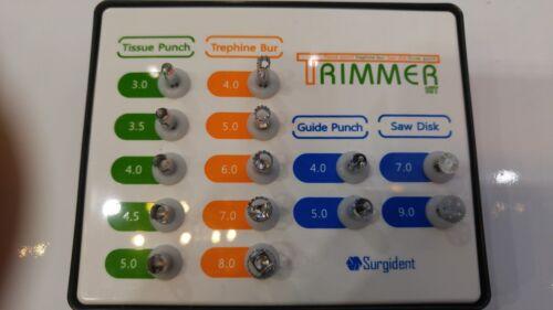 Dental surgident Implant Trimmer Kit Tissue Trephine Bur Saw Disk&Guide Punch PT