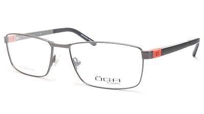 a169ff3abc74 OGA Morel Eyeglasses Frame 81730 GR041 Metal Acetate Black Silver Orange  France