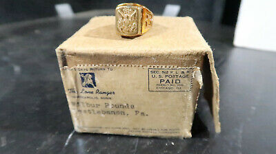 Lone Ranger 1941 BOXED US Army Look Around Ring