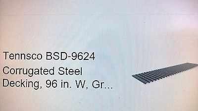 Tennsco Bsd-9624 Corrugated Steel Decking96 In. Wgray Lots Of 10 Boxes Local