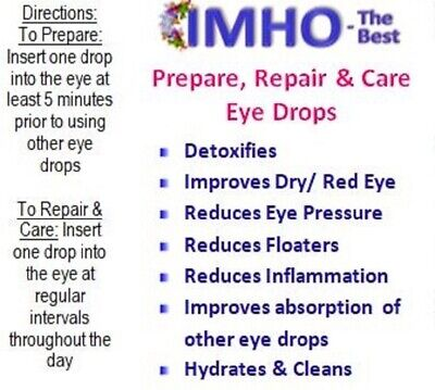 MSM eye drops. Reduce floaters,red eye,dry eye, eye pressure, sharpen