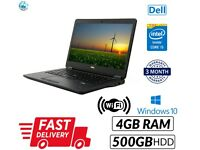 """Fast Laptop Dell Latitude E7450 14"""" Core i5 5th Gen Webcam 500GB Win 10 HDMI HD"""