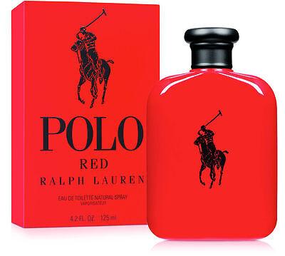Ralph Lauren Polo Red Men 4.2 Oz /125 ML Eau De Toilette Spray New Sealed In Box