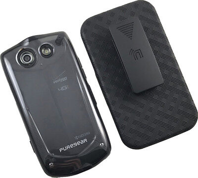 PUREGEAR CLEAR CASE COVER + BELT CLIP HOLSTER FOR KYOCERA BRIGADIER E6782 Clear Cover Clip