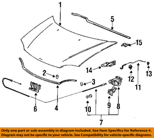Genuine Honda Parts 74120-SR3-A01 Hood Latch