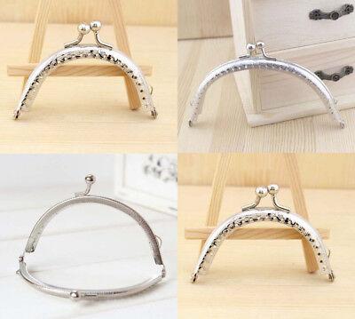8.5-12.5 CM Metal Frame Kiss Clasp For Handle Bag Purse Half circle Bronze - 12 Cm Bronze Handle