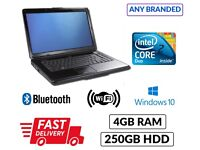 Low Price Branded Laptop Any Model Make Core 2 Duo 4GB 250GB Dvd WebCam Win 10