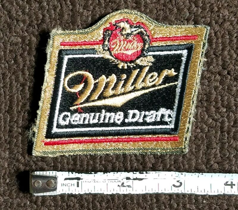 VINTAGE Miller Beer, Original Embroidered collectors Patch